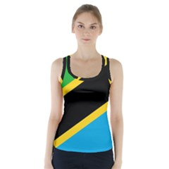 Flag Of Tanzania Racer Back Sports Top