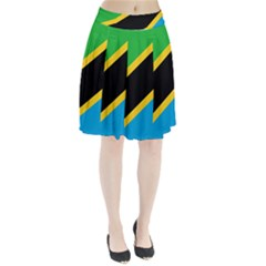 Flag Of Tanzania Pleated Skirt