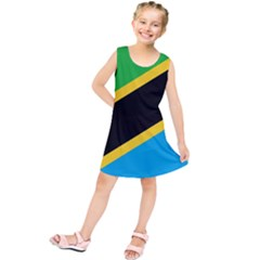 Flag Of Tanzania Kids  Tunic Dress