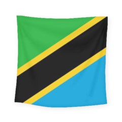 Flag Of Tanzania Square Tapestry (small)