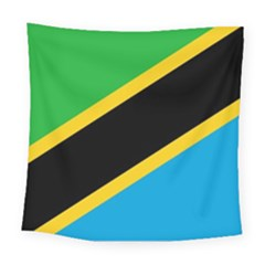 Flag Of Tanzania Square Tapestry (large)