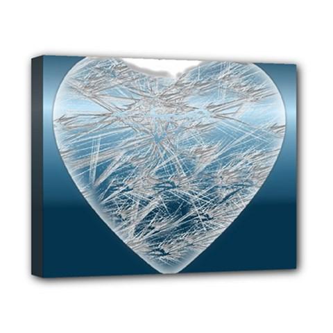 Frozen Heart Canvas 10  X 8