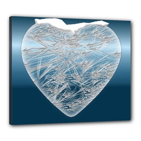 Frozen Heart Canvas 24  X 20