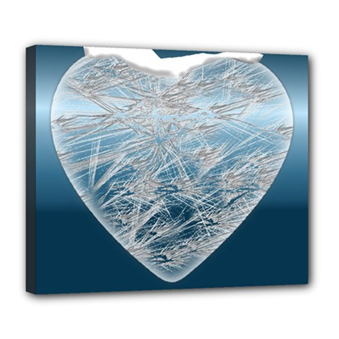 Frozen Heart Deluxe Canvas 24  X 20