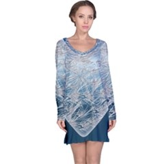 Frozen Heart Long Sleeve Nightdress