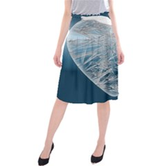 Frozen Heart Midi Beach Skirt