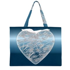 Frozen Heart Zipper Large Tote Bag