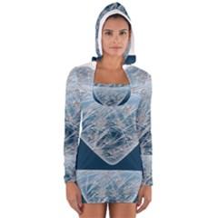 Frozen Heart Women s Long Sleeve Hooded T Shirt