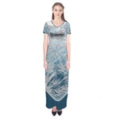 Frozen Heart Short Sleeve Maxi Dress