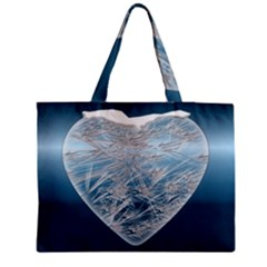 Frozen Heart Medium Zipper Tote Bag