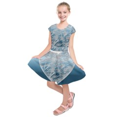 Frozen Heart Kids  Short Sleeve Dress