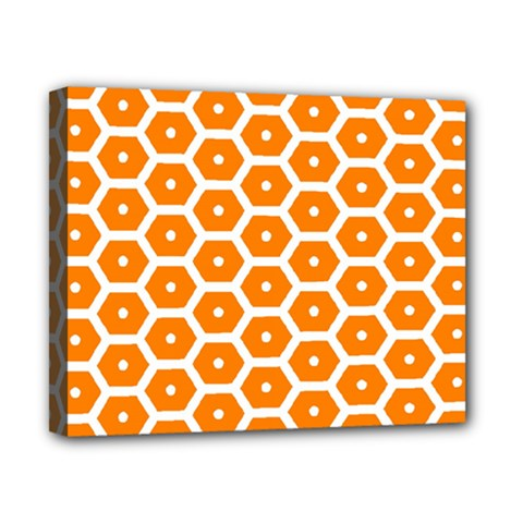 Golden Be Hive Pattern Canvas 10  X 8