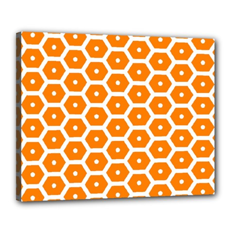 Golden Be Hive Pattern Canvas 20  X 16