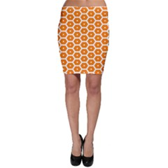 Golden Be Hive Pattern Bodycon Skirt