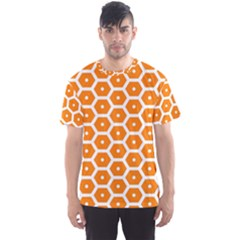 Golden Be Hive Pattern Men s Sport Mesh Tee