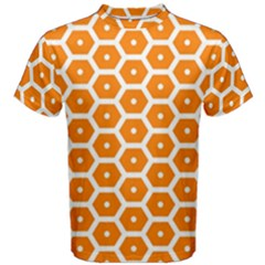 Golden Be Hive Pattern Men s Cotton Tee