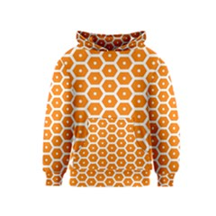 Golden Be Hive Pattern Kids  Pullover Hoodie