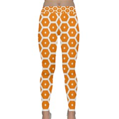 Golden Be Hive Pattern Classic Yoga Leggings