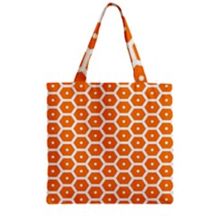 Golden Be Hive Pattern Zipper Grocery Tote Bag