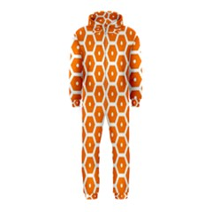 Golden Be Hive Pattern Hooded Jumpsuit (kids)