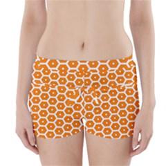 Golden Be Hive Pattern Boyleg Bikini Wrap Bottoms