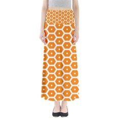 Golden Be Hive Pattern Maxi Skirts