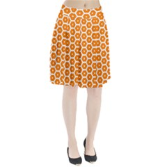 Golden Be Hive Pattern Pleated Skirt
