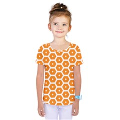 Golden Be Hive Pattern Kids  One Piece Tee