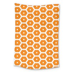 Golden Be Hive Pattern Large Tapestry