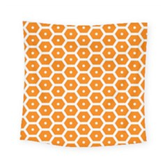 Golden Be Hive Pattern Square Tapestry (small)