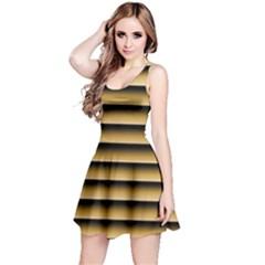 Golden Line Background Reversible Sleeveless Dress