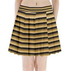 Golden Line Background Pleated Mini Skirt