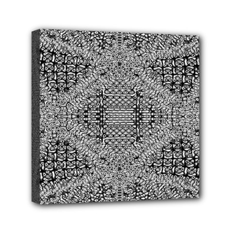 Gray Psychedelic Background Mini Canvas 6  X 6