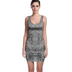 Gray Psychedelic Background Sleeveless Bodycon Dress