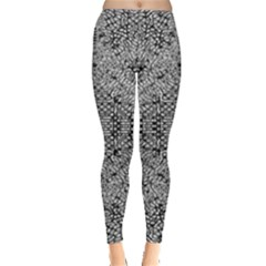 Gray Psychedelic Background Leggings