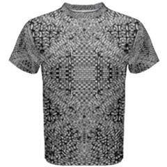 Gray Psychedelic Background Men s Cotton Tee