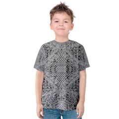 Gray Psychedelic Background Kids  Cotton Tee