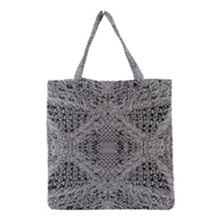 Gray Psychedelic Background Grocery Tote Bag