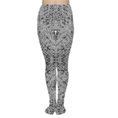 Gray Psychedelic Background Women s Tights
