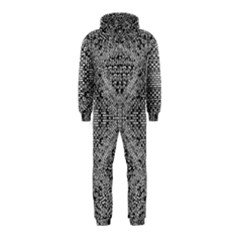Gray Psychedelic Background Hooded Jumpsuit (kids)