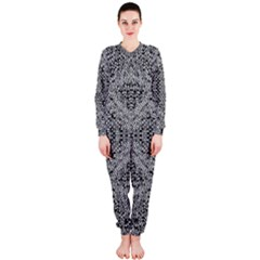 Gray Psychedelic Background Onepiece Jumpsuit (ladies)