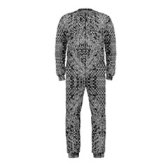 Gray Psychedelic Background Onepiece Jumpsuit (kids)
