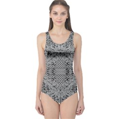 Gray Psychedelic Background One Piece Swimsuit