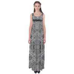 Gray Psychedelic Background Empire Waist Maxi Dress