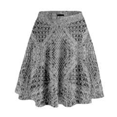 Gray Psychedelic Background High Waist Skirt