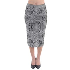 Gray Psychedelic Background Midi Pencil Skirt