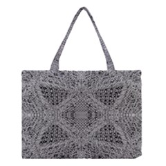 Gray Psychedelic Background Medium Tote Bag