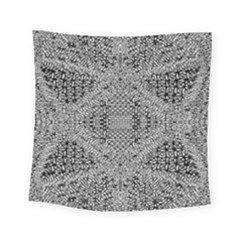 Gray Psychedelic Background Square Tapestry (small)