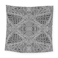 Gray Psychedelic Background Square Tapestry (large)