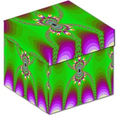 Green And Purple Fractal Storage Stool 12